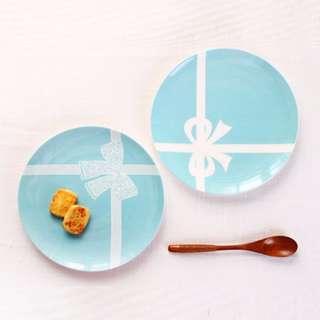 🚚 終於追加到貨~(現貨) 新款創意西式tiffany綠骨瓷西餐盤