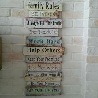 Home Deco quotes wall display board