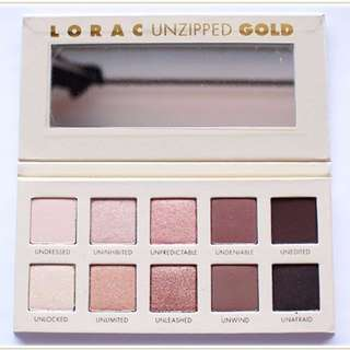 INSTOCK NEW! Lorac Unzipped GOLD