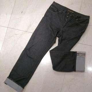 Lv黑色直筒牛仔長褲