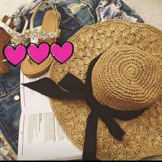 全新 夏天必備的草帽