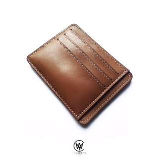 Handmade Genuine Full Grain Leather Minimalist Card Holder/Wallet | Handcrafted | Handstitched | D35