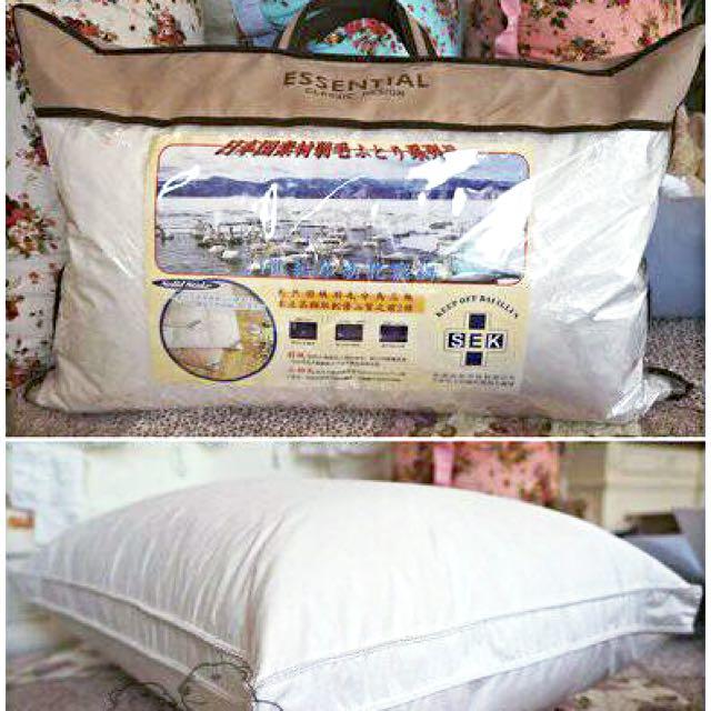 【出清售完為止】手工車縫羽絨枕