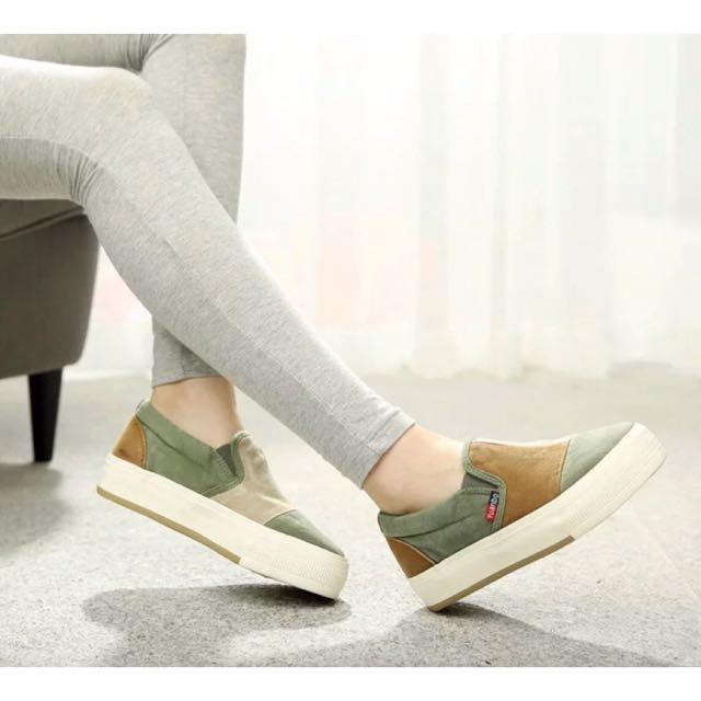 復古刷色厚底鞋