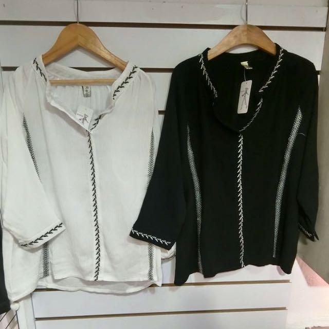 雪紡襯衫(黑色)