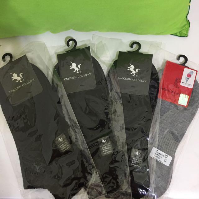 中性船型棉襪 4雙