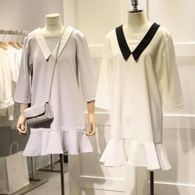 韓版東大門學院風連身裙 洋裝 連衣裙