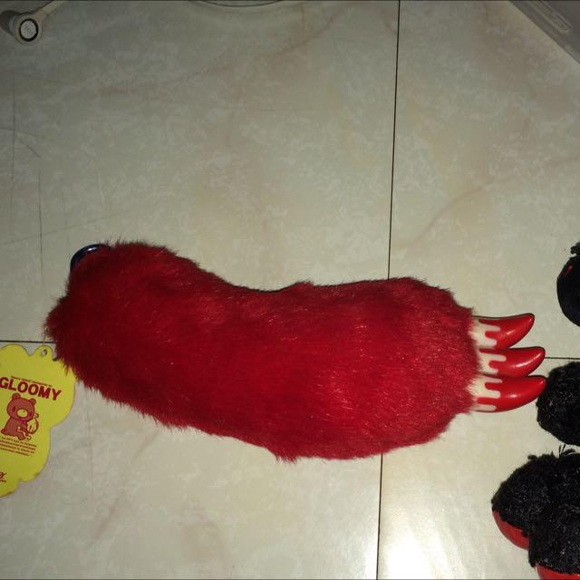 日本 暴力熊 GLOOMY 紅色版血熊掌+黑色版熊