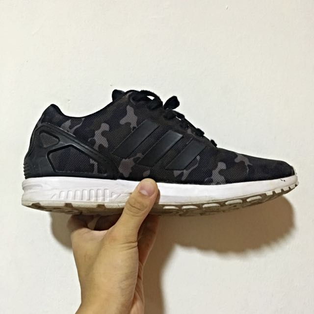official photos 6a4bc 08675 Adidas ZX Flux - Black   Camo B24388, Men s Fashion on Carousell
