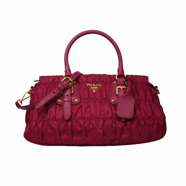 babe42f08033 Brand New Prada 1BA407 QR1 F0BA8 Tessuto Gaufre Shopping Bag Ibisco ...