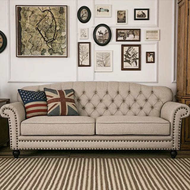 Country Style Fabric Sofa Furniture