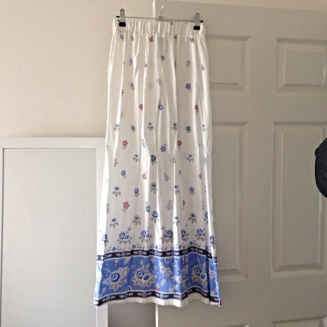 Floral Maxi Skirt, Size S