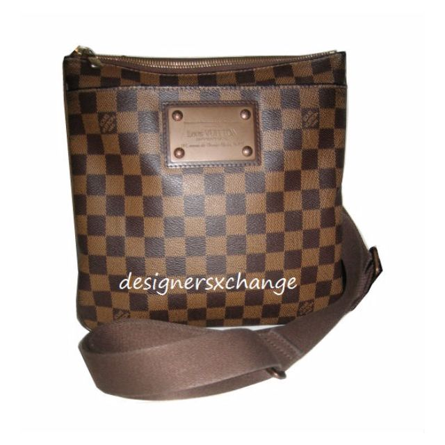 f39c90ff4bc1 Louis Vuitton Damier Ebene Pochette Plate Brooklyn Messenger Sling ...