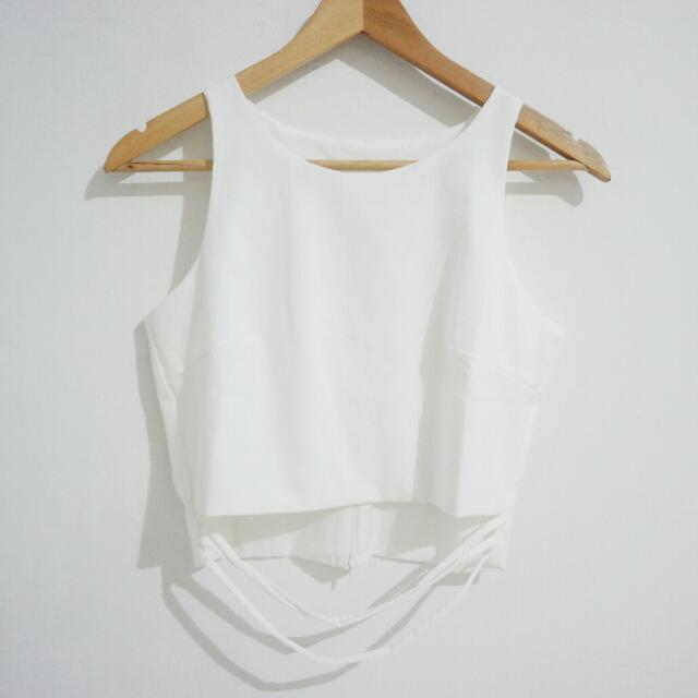 New! White Crop Top