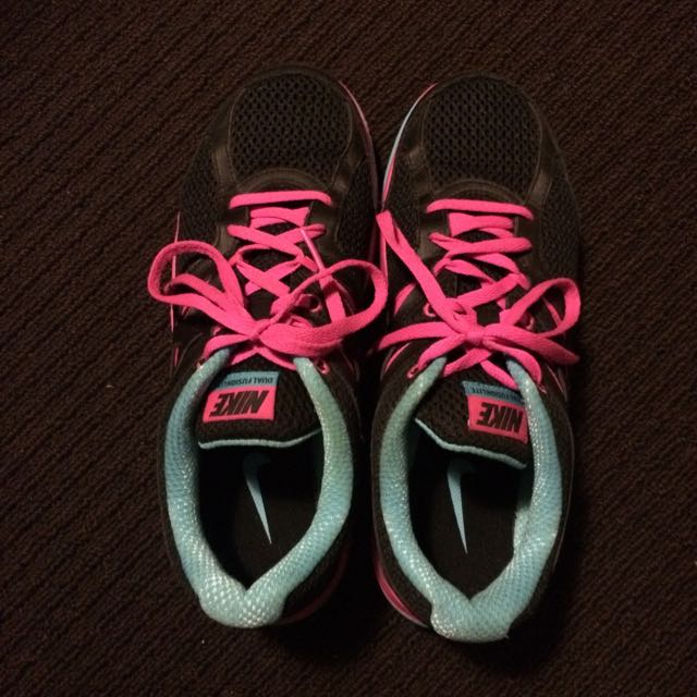 Nike Dual Fusion Running Shoes Black Pink & Blue