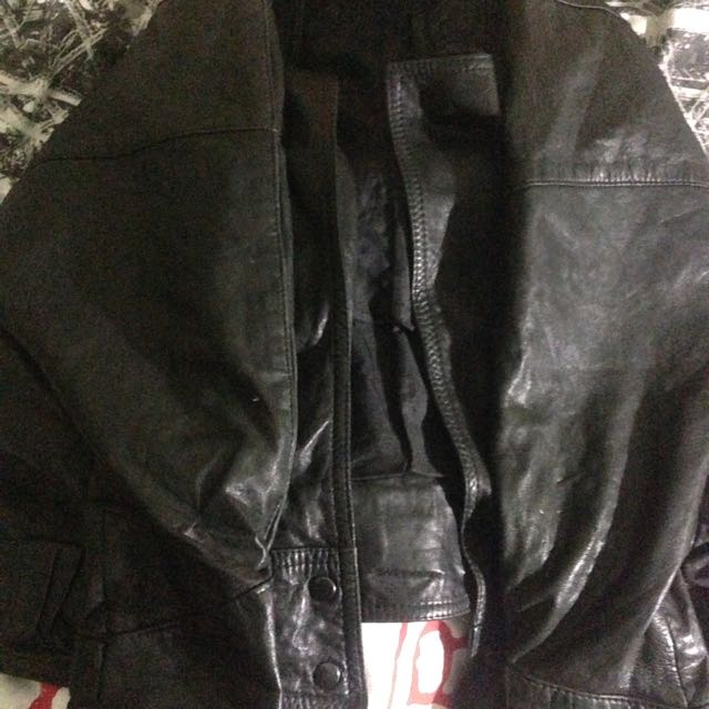 Puffy Leather Jacket