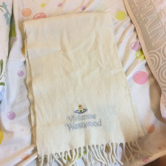 Vivienne Westwood 羊毛圍巾 純白