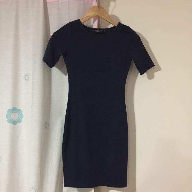 Zalora Navy Dress Size Xs