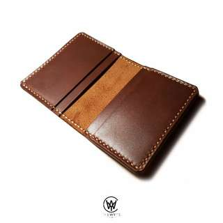 Handmade Genuine Full Grain Leather Card Holder | Handcrafted | Handstitched | D36