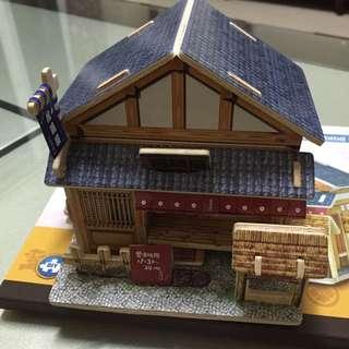 3D 木製立體拼圖 拼裝小屋 日本小屋 英國 美國 挪威 法國 兒童益智建築模型