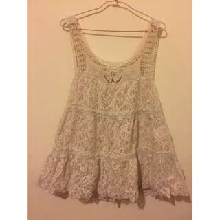 蕾絲傘狀 洋裝