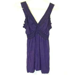 縮腰無袖傘狀上衣洋裝
