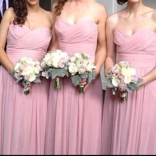 2 Chiffon Bridesmaid Dresses