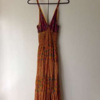 Ishka Silk Maxi Dress