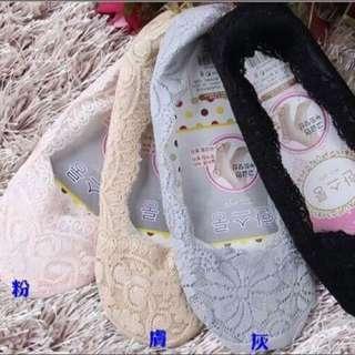 ⭐️熱門款韓國蕾絲防滑隱形襪
