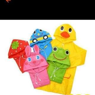 ʕ•ﻌ•ʔ庭庭ʕ•ﻌ•ʔ 日韓版學生男女童寶寶雨衣卡通動物造型雨衣可愛兒童雨披