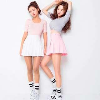 白色  百摺裙  百摺網球裙