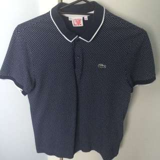 Lacoste Navy Spotted Polo
