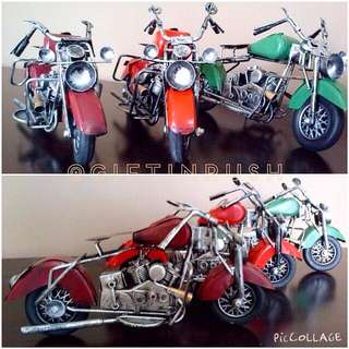 AH01-062 Handmade Vintage Motorbike / Miniatur Replika Motor Klasik