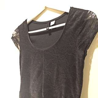 H&M Black Crotchet Dress