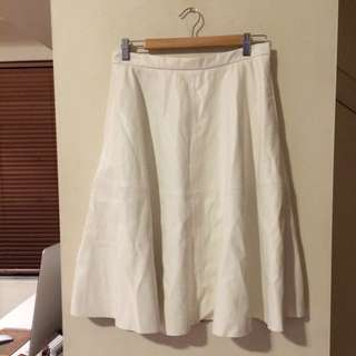 Bardot Faux Leather White Skirt (Size 12)