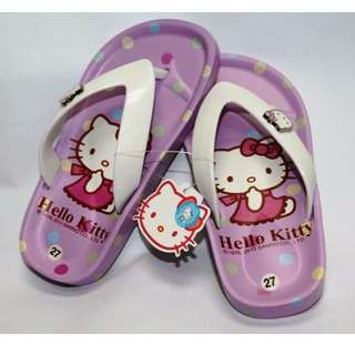 0fdac4ba9 [NEW] HELLO KITTY KIDS SLIPPERS- PURPLE K 3186 [ORIGINAL][MADE