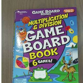 Learning Resources Multiplication & Division Game Board Book