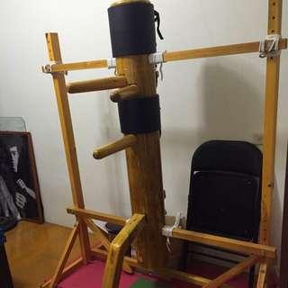 詠春拳 木人樁 框架式 實木