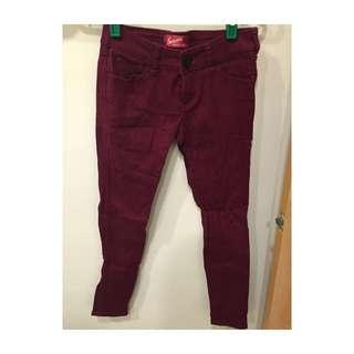 Someone Jeans酒紅牛仔褲