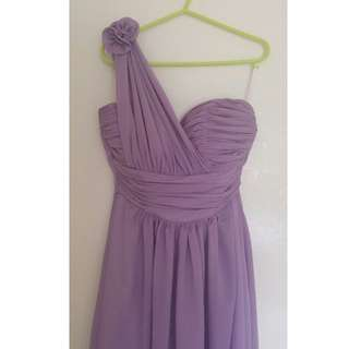 Bridesmaid/Formal Purple (Lilac) Chiffon Dress