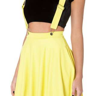 BlackMilk Matte Pinafore Skirt