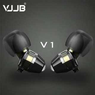 VJJB V1 Dual Dynamic Driver Earphones