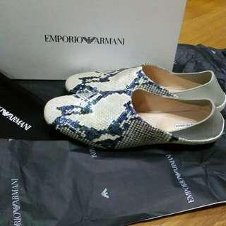 Emporio Armani Flat Leather Shoe