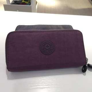 Kipling雙層大容量長夾(紫)