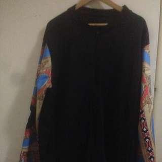 Yd Black/patterned Jumper/zipper