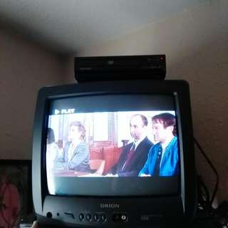 "20"" TV - Digital Converter Box - DVD Player - 2 Remotes"