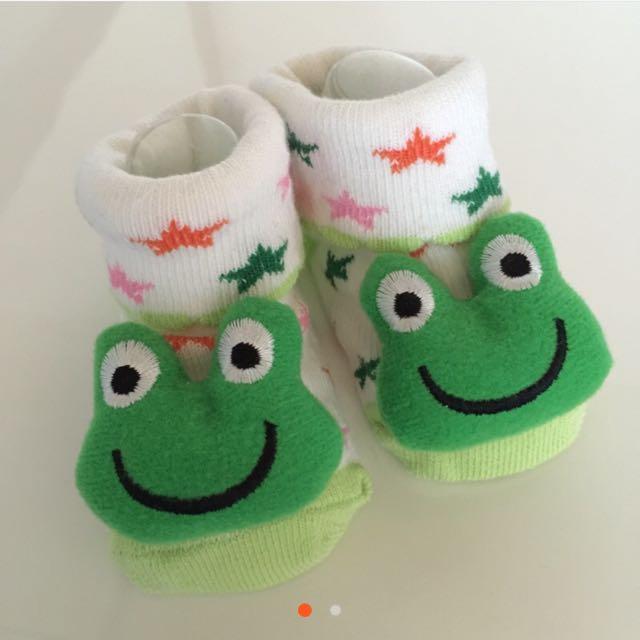 可愛🐸造型止滑襪