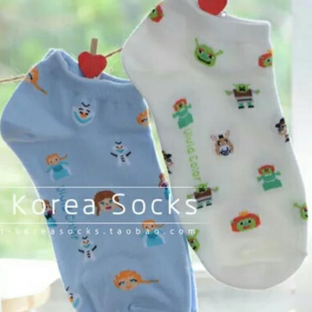 ↘降價↘正韓滿版棉質短襪