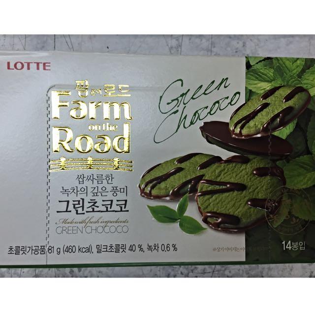🎉韓國直輸新鮮貨🎉樂天抹茶巧克力餅