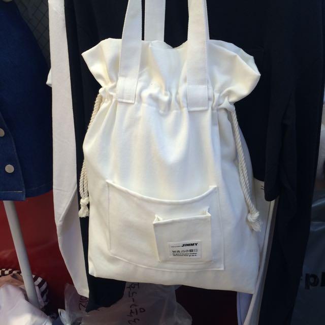 韓國 束口小設計肩背包